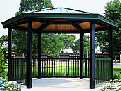 picnic shelters single hexagon hip