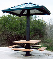 picnic shelters mini single post