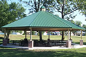 picnic shelters single Octagon hip
