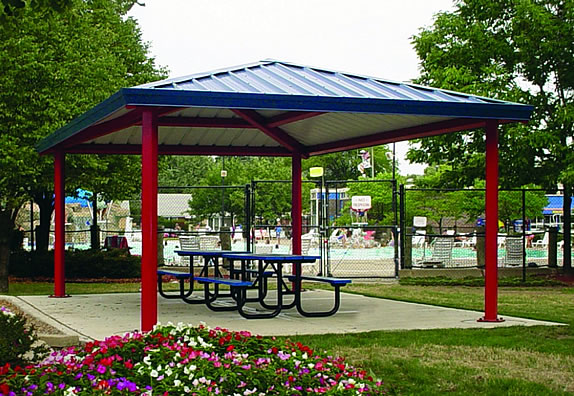 picnic shelters single rectangle hip