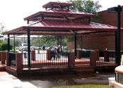 picnic shelters square triple